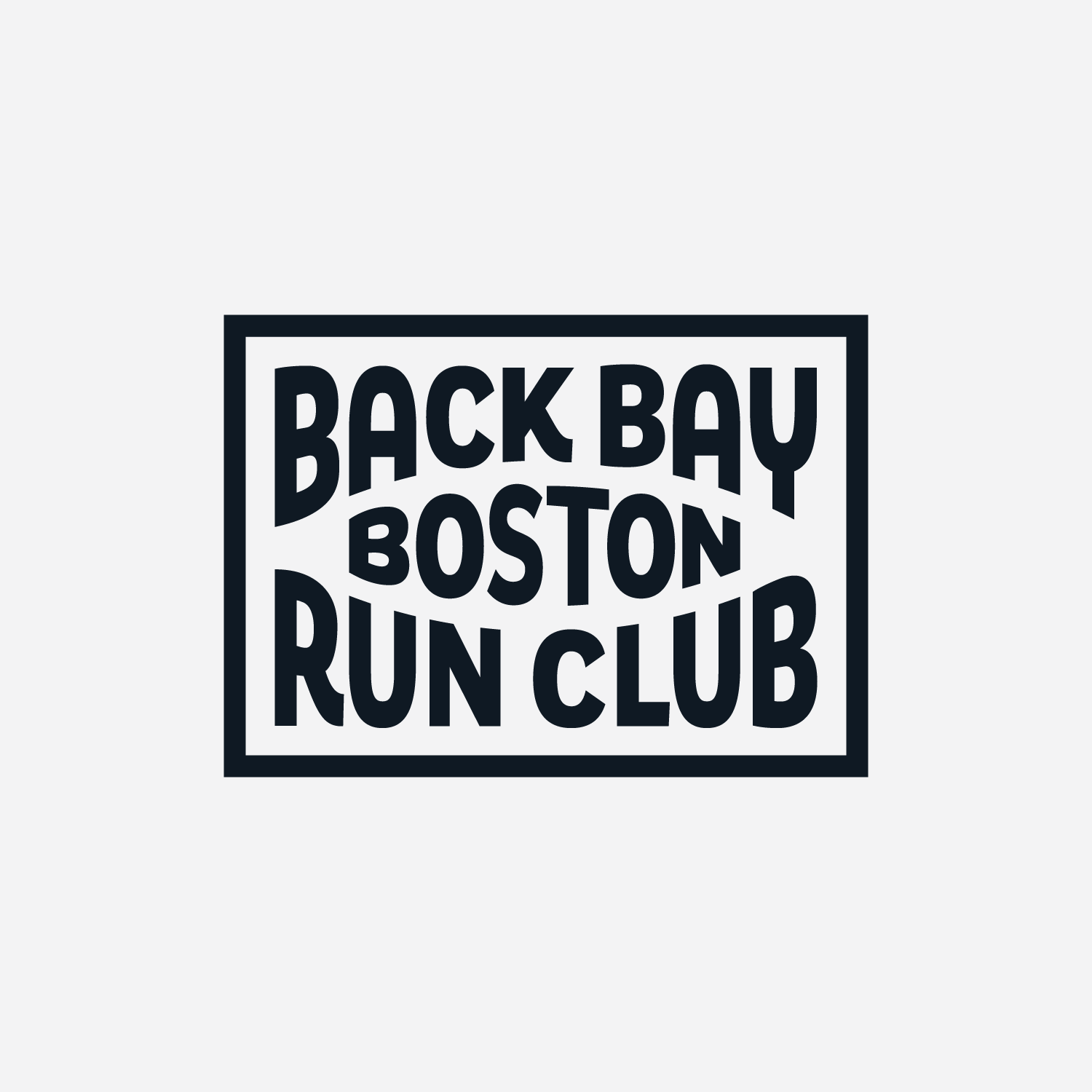 Black patch, created for Back Bay Run Club