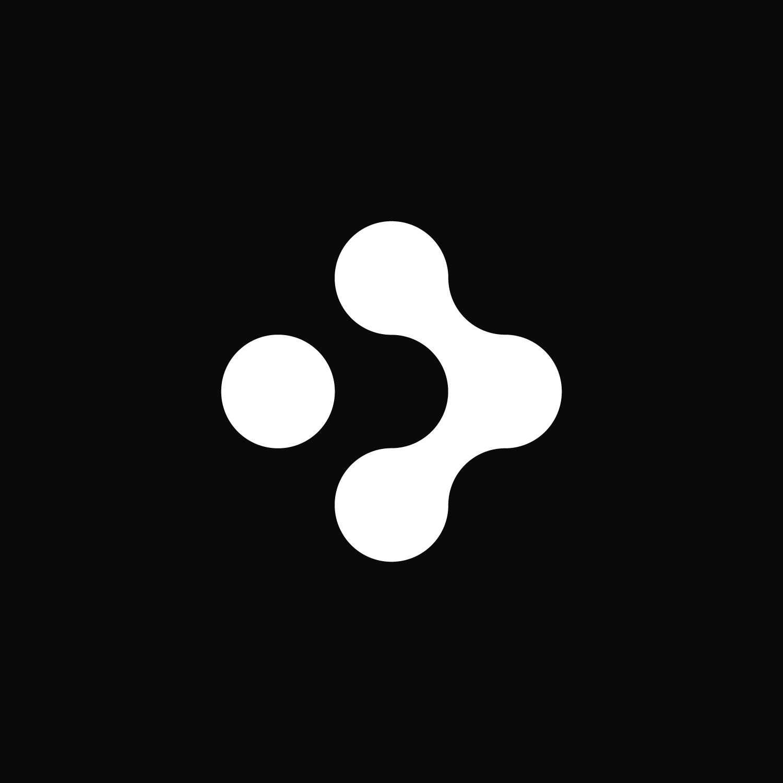 White Bolt symbol on a black background