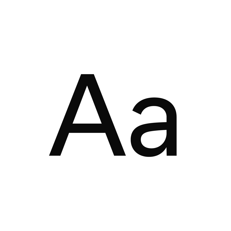 Black Usual Regular type specimen on a black background for Bolt