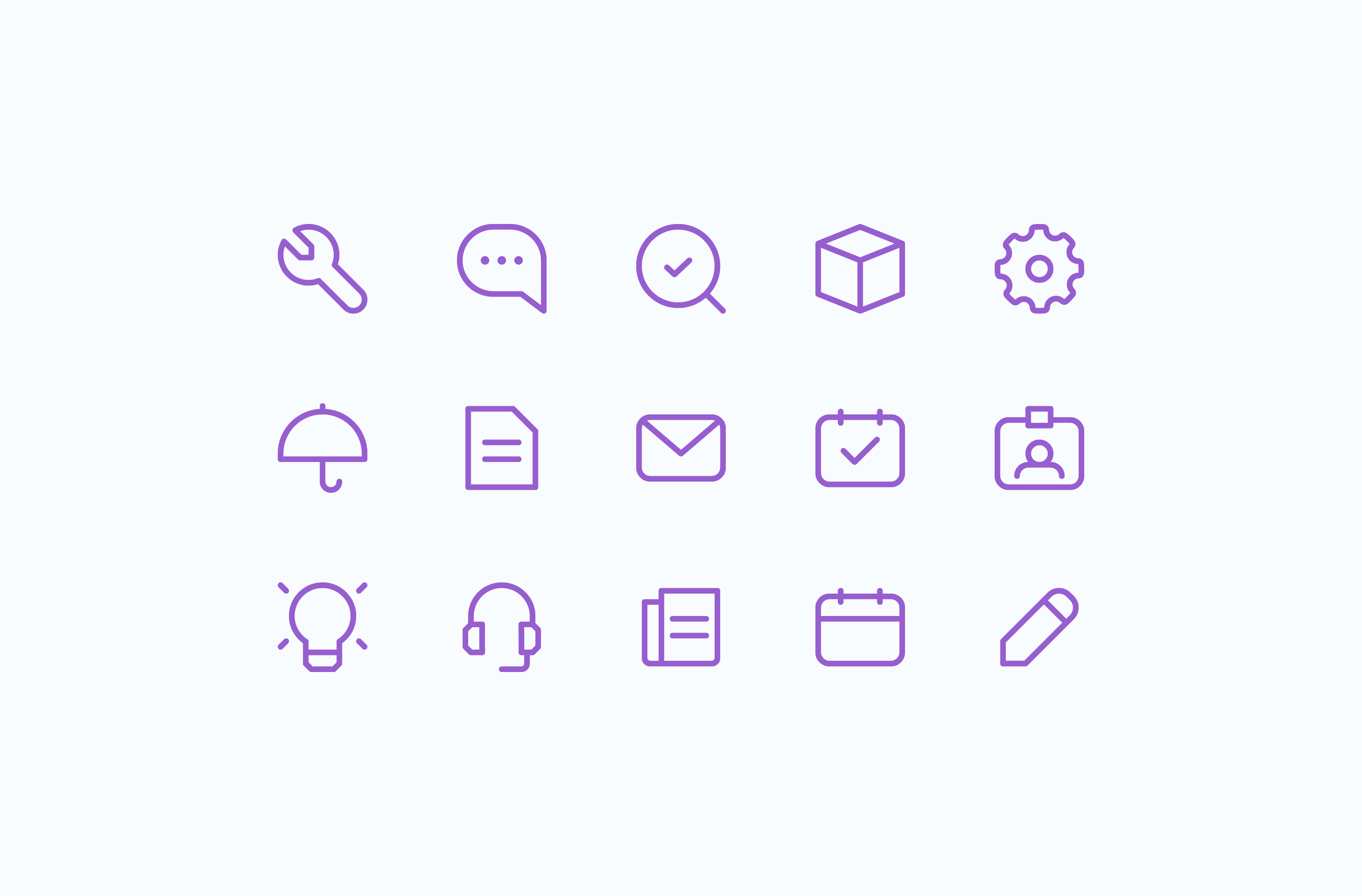 Building Engines product features icon set