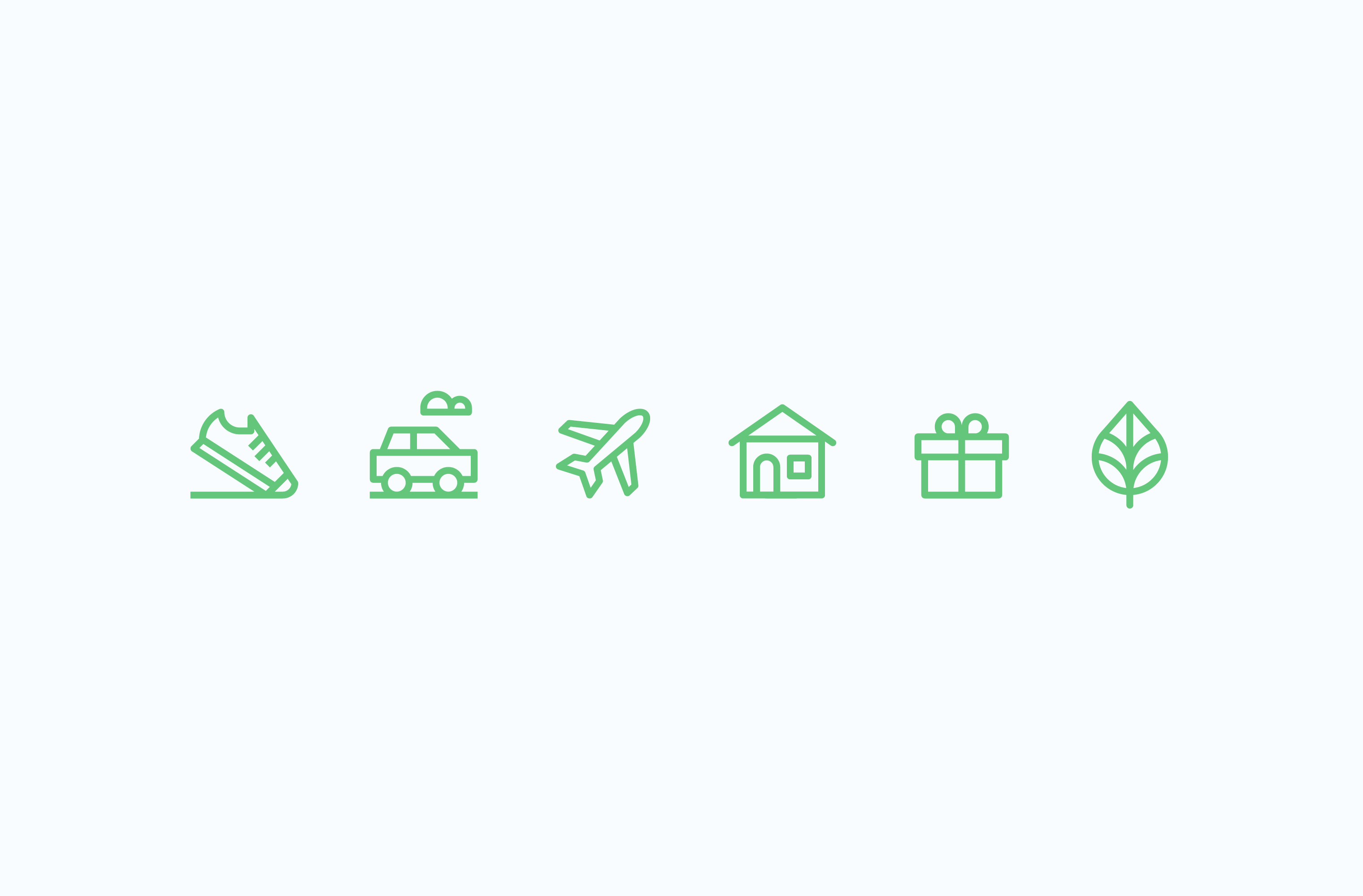 Carbonfund carbon offset icon set