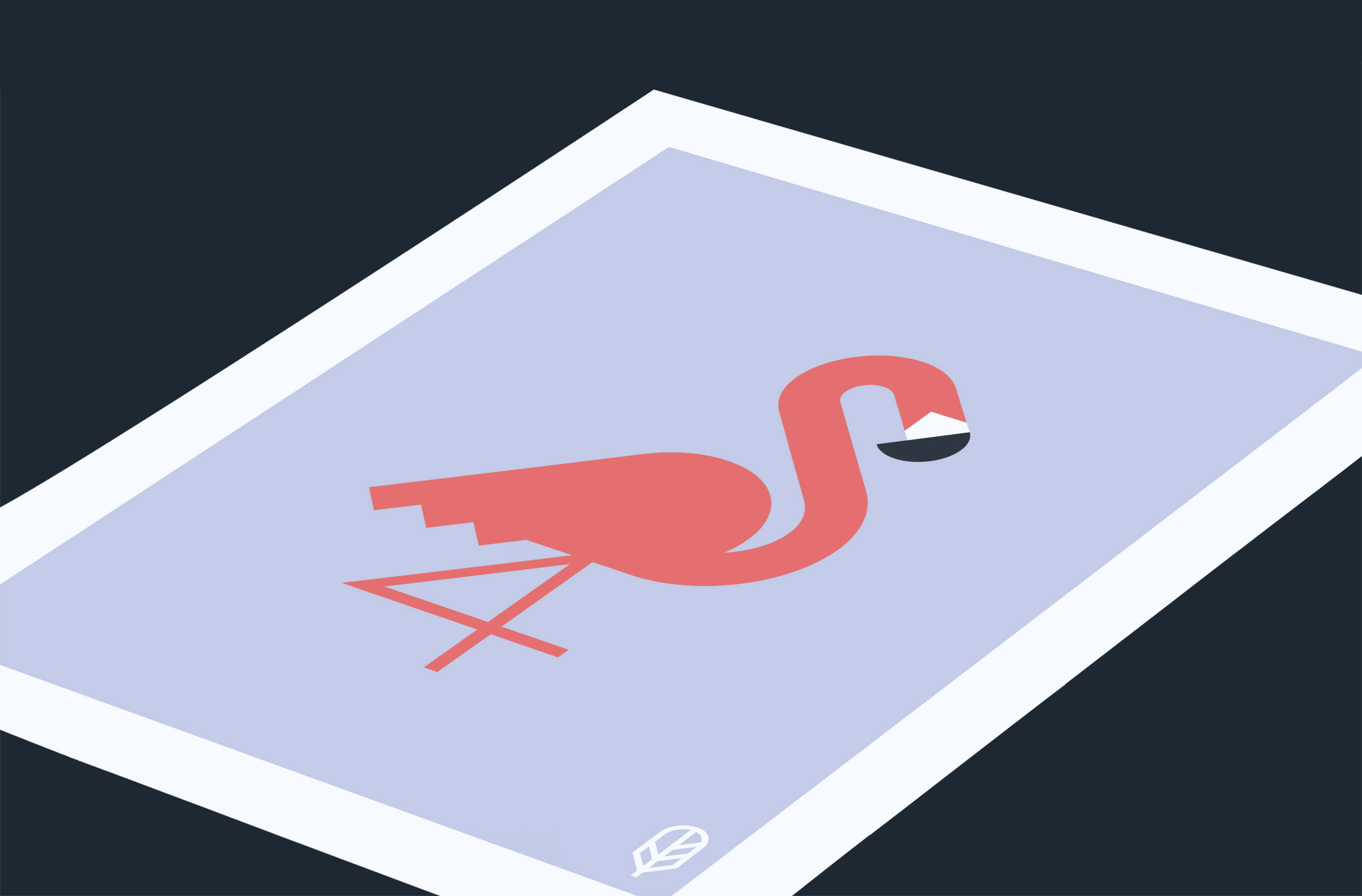 Flock Together print displaying the illustration of a flamingo