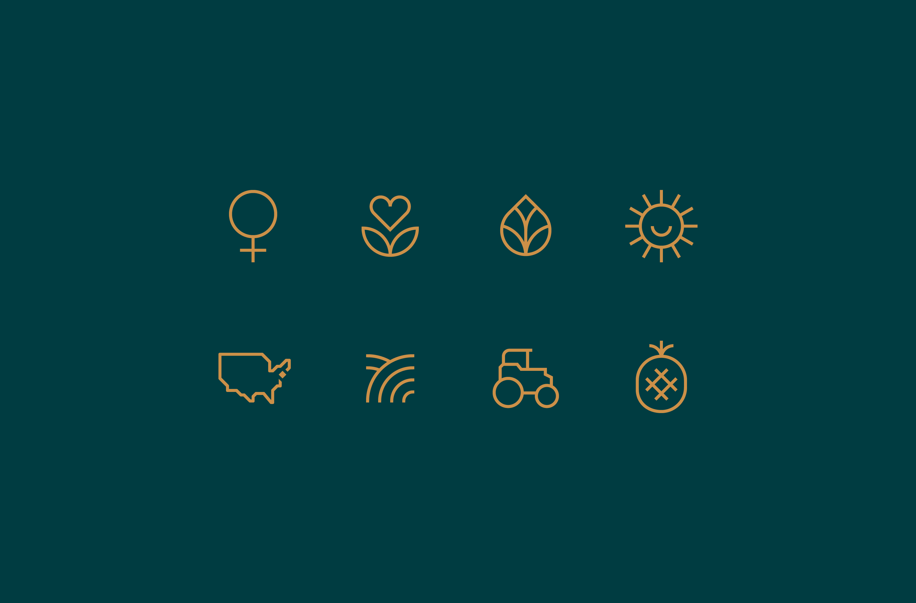 Yellow Grazy icon set on a teal background