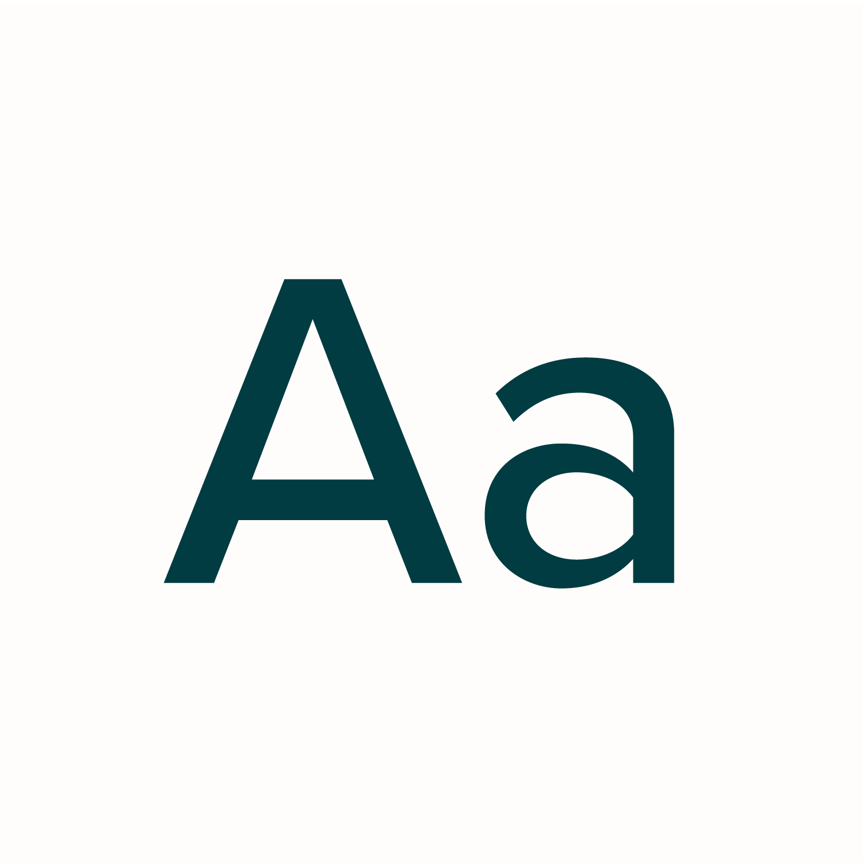 Teal Proxima Nova type specimen on a white background for Grazy
