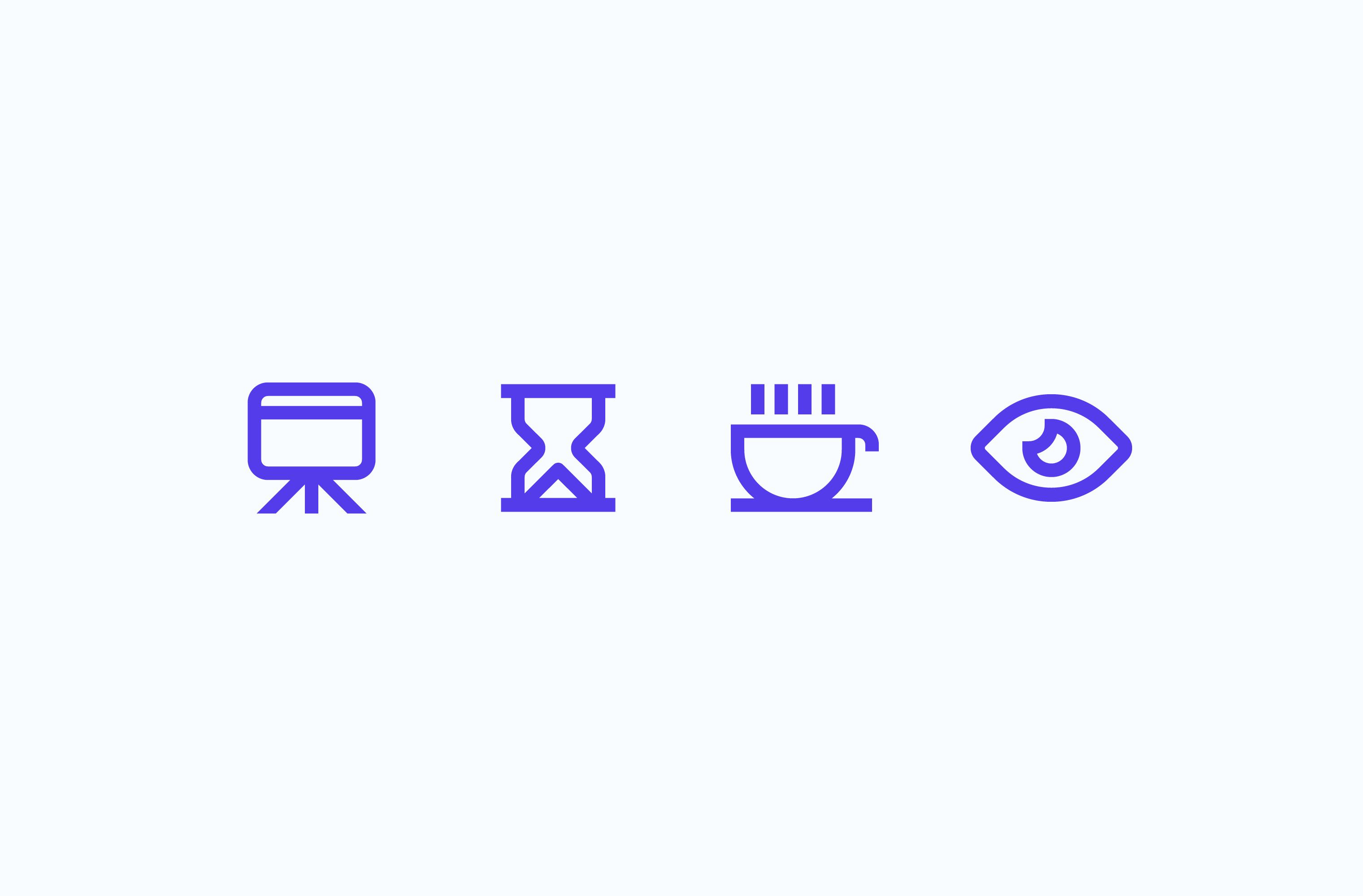 Lightning Talks presentation icon set