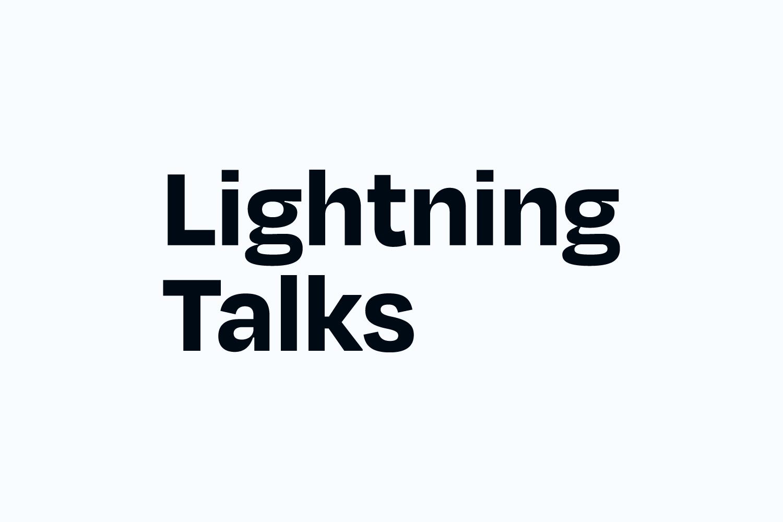 Lightning Talks wordmark