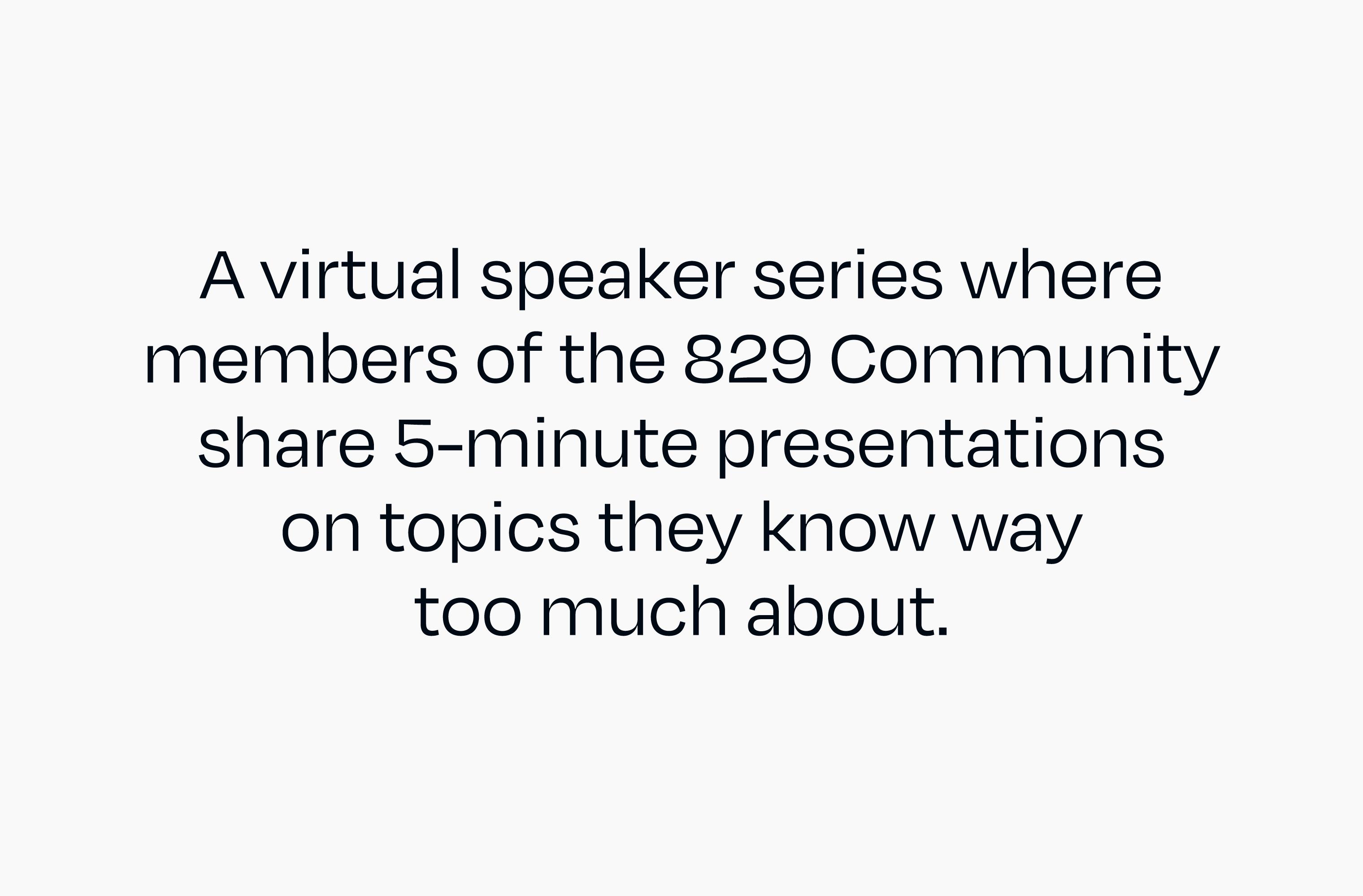 Intro slide from a Lightning Talks event