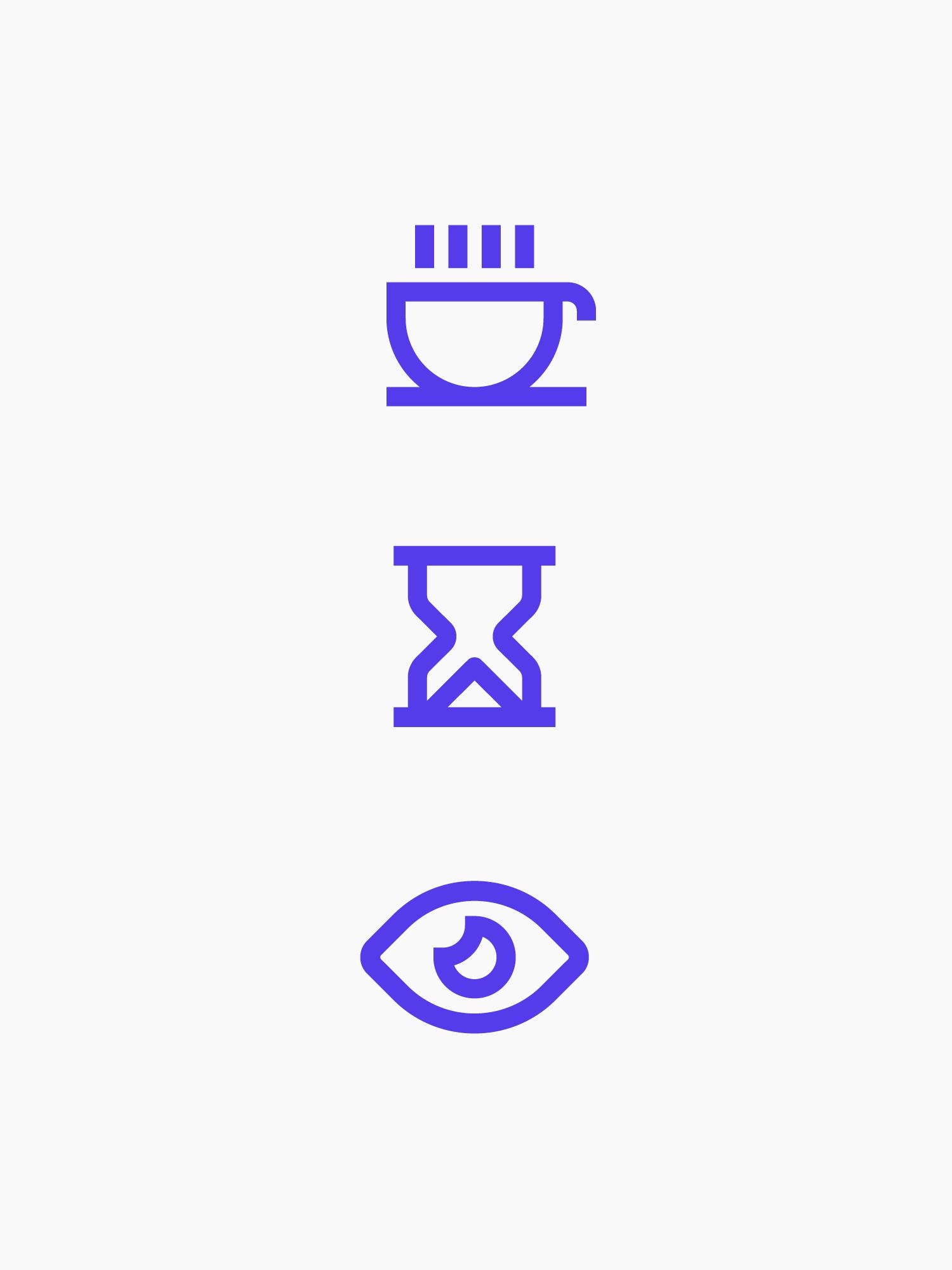 Purple icons for Lightning Talks