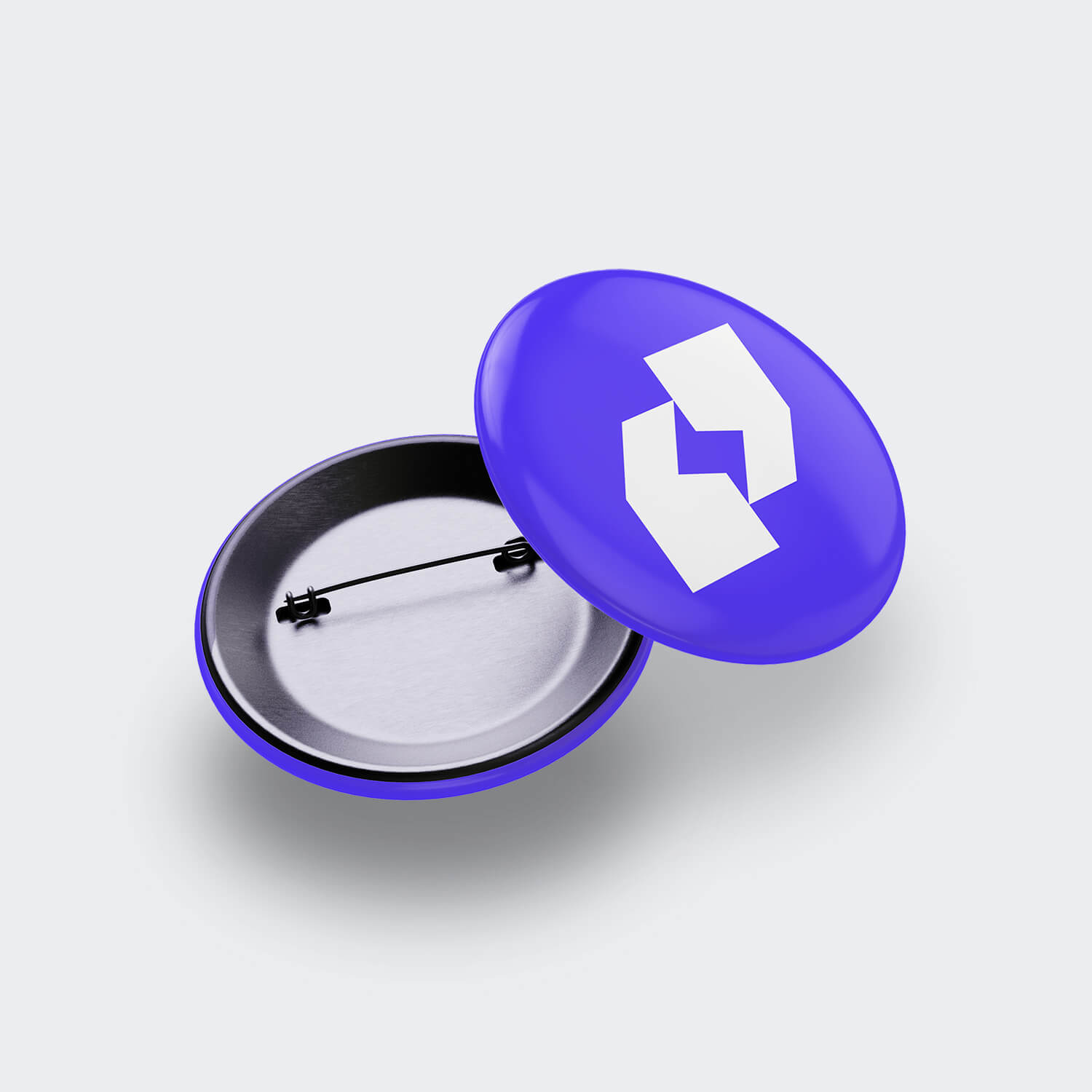 Two purple buttons displaying a white Lightning Talks symbol