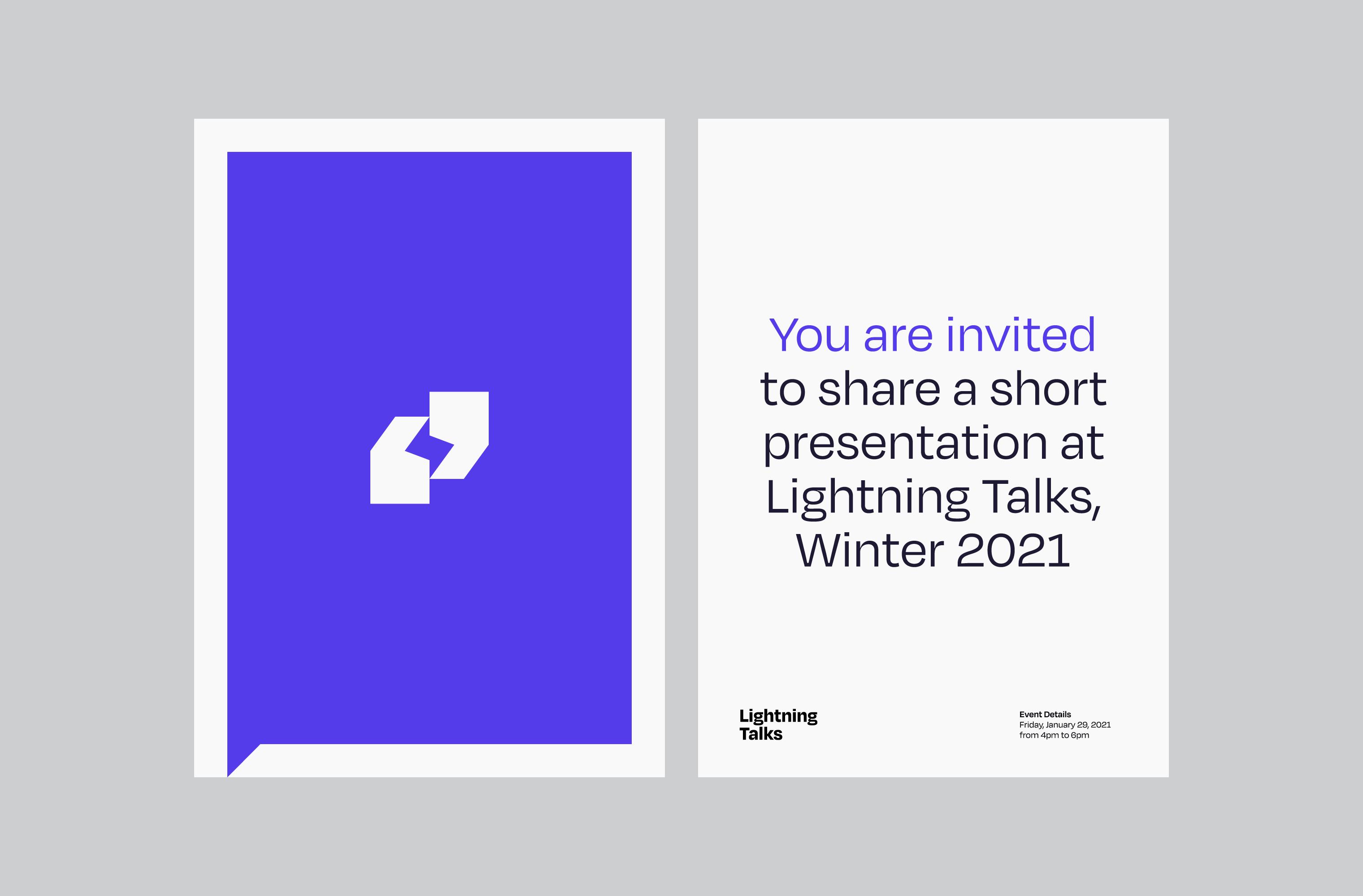 Invitation to speak at a Lightning Talks event