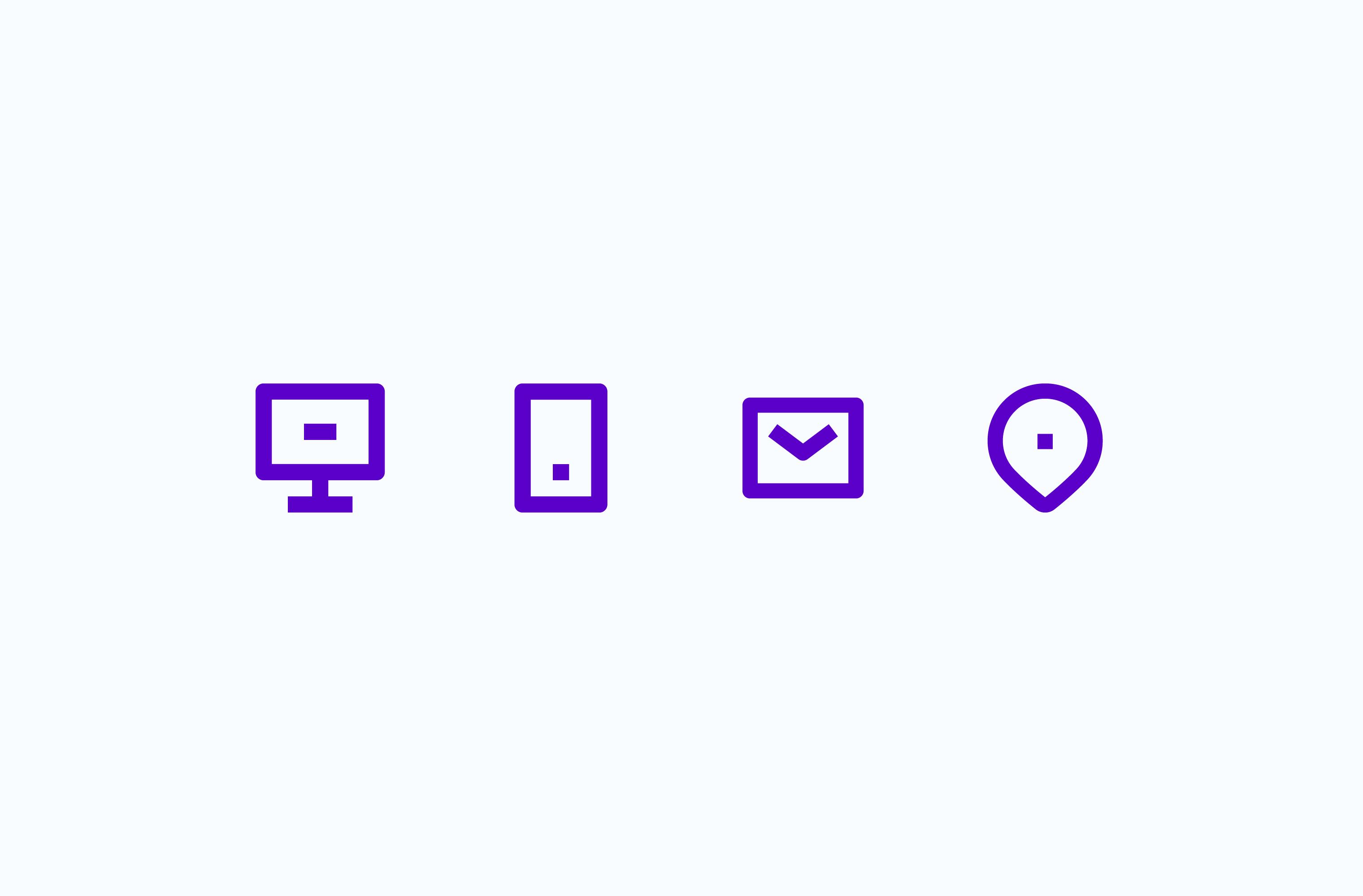 Molly's Resumé contact icon set