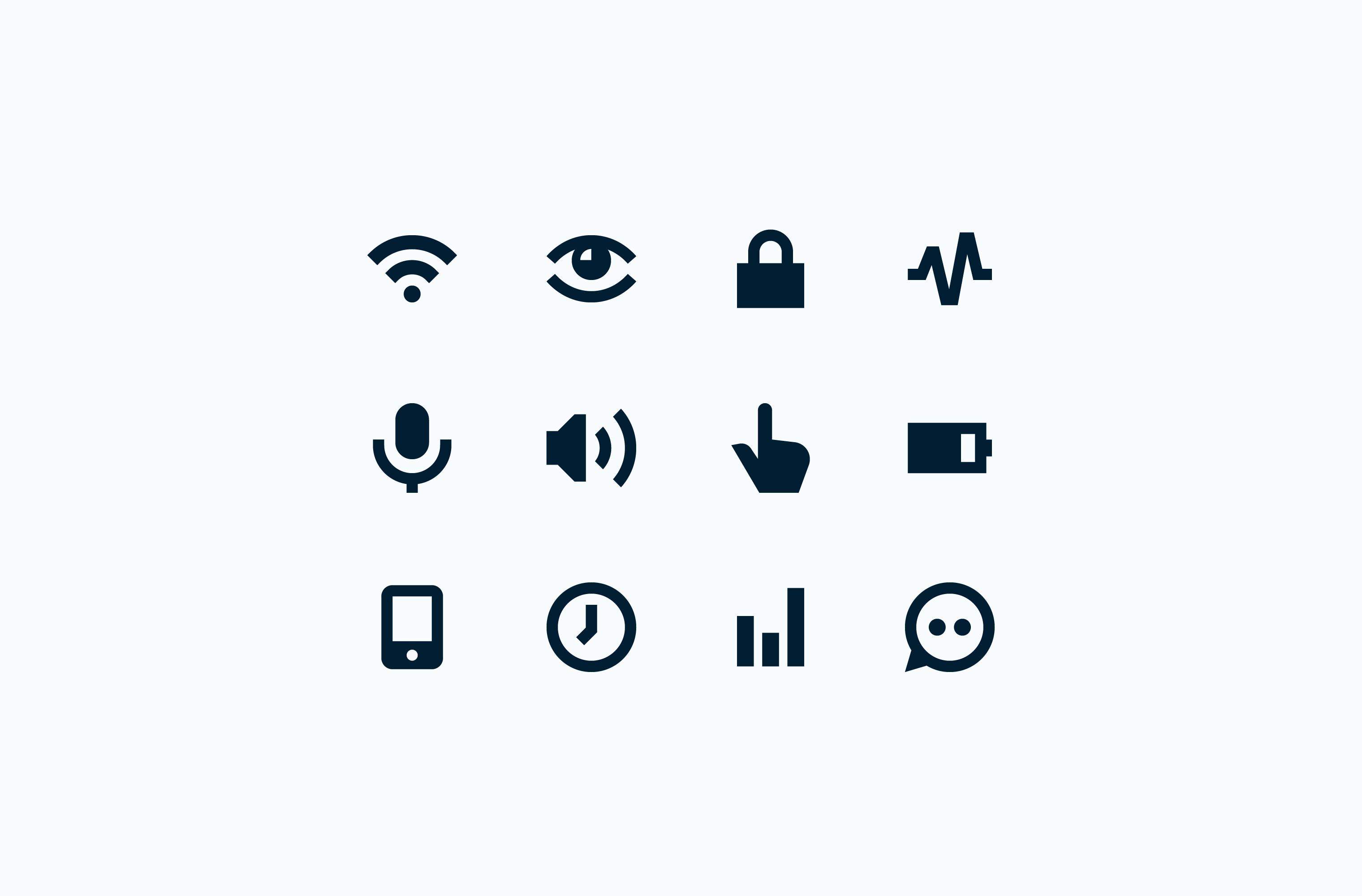 Pria user interface icon set