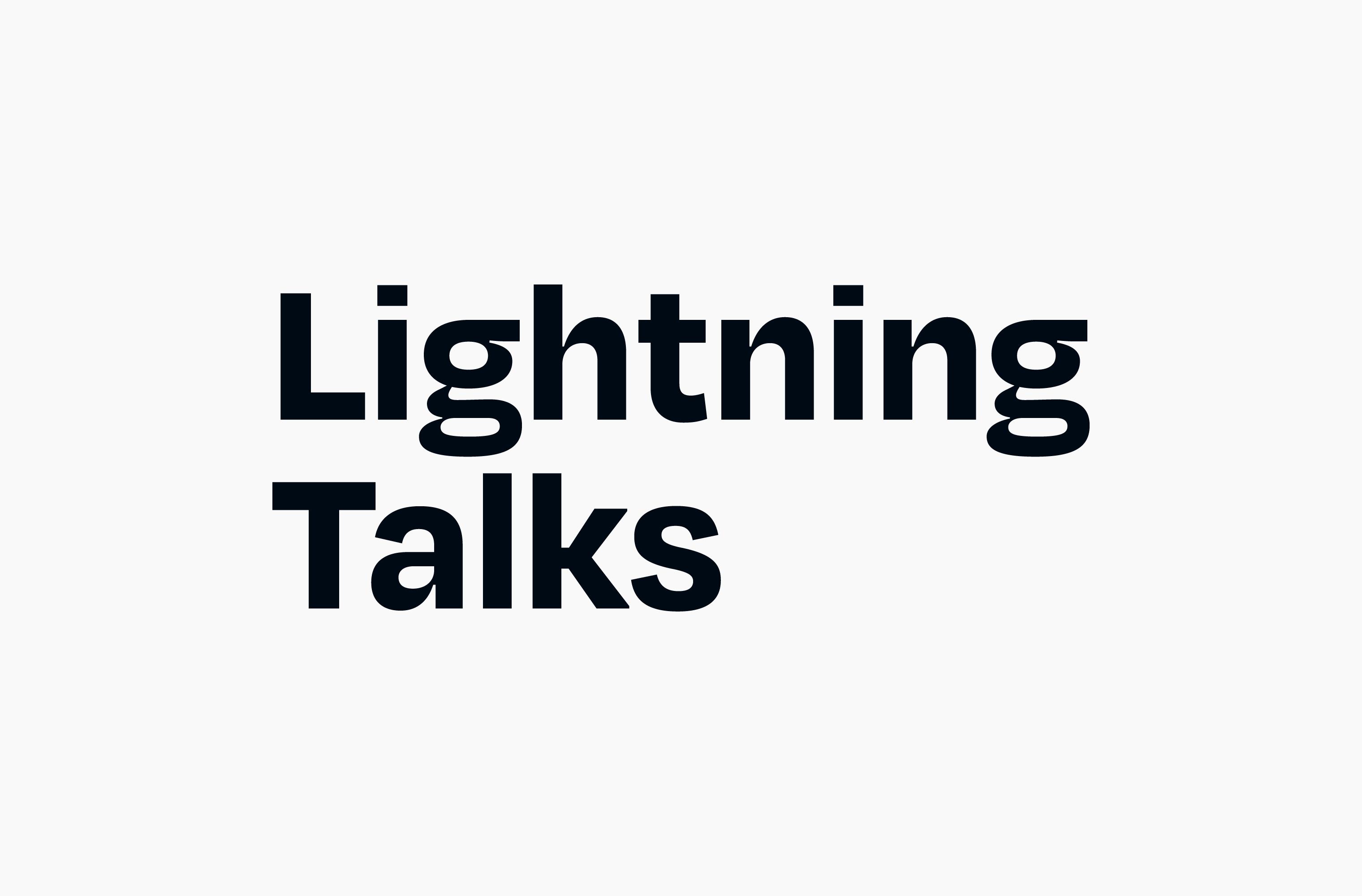 Black Lightning Talks wordmark on a white background
